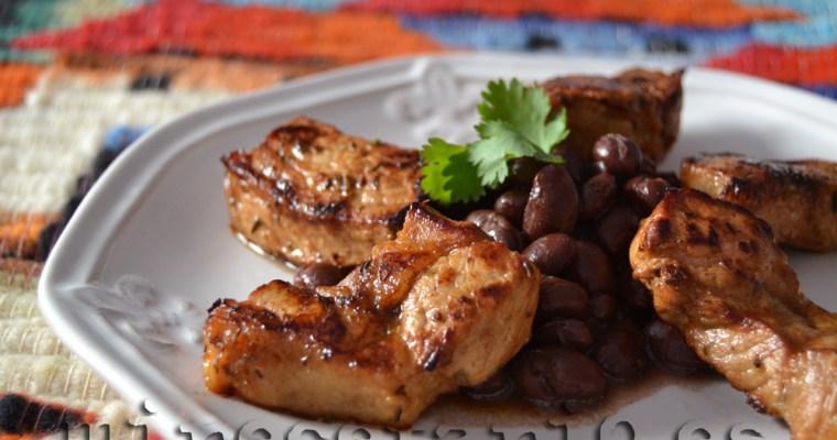 Lomo guatemalteco con frijoles {Guatemala}