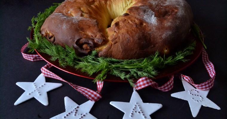 Roscón de Reyes salado de foié y manzana