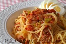 Spaguetti con mi salsa de tomate casera