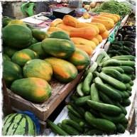Und es gibt Früchte, die ich wahnsinnig gerne esse, wie die Papaya. Nur, dass sie hier einfach besser schmeckt (Foto: Balkanblogger)