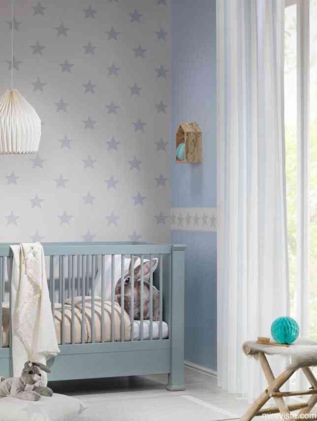 Decora la primera habitacin de tu beb con papel pintado