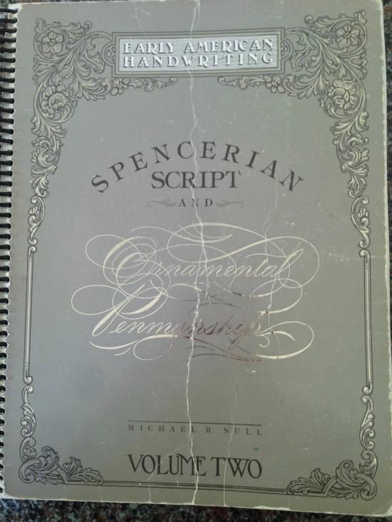 American calligrapher Michael Sull's definitive work on Spencerian calligraphy, Barbara Calzolari's Spencerian workshop, Centro Sociale Giorgio Costa, Bologna, April 2–3, 2016 (photo: Miriam Jones).