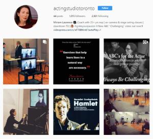 Miriam Laurence Acting Studio Toronto on Instagram