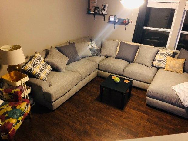 Sectional put together in living room