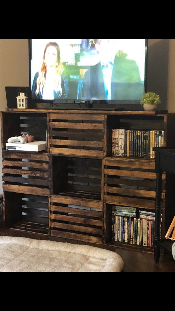 Finished DIY TV stand!