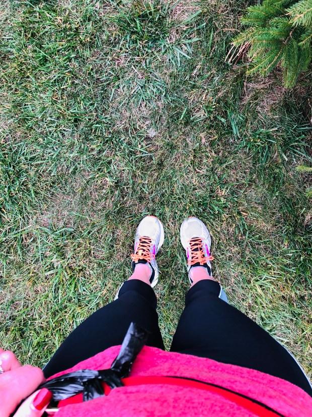 Post run views of shoes