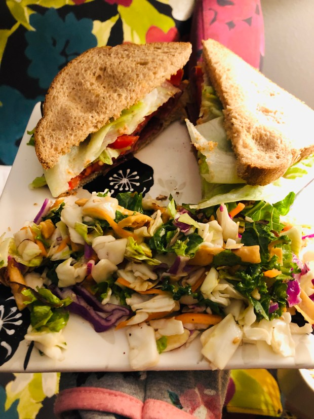 BLTs and salad