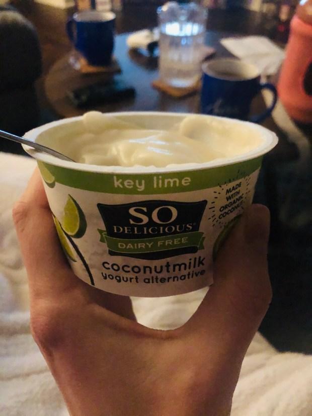 Key Lime yogurt for dessert