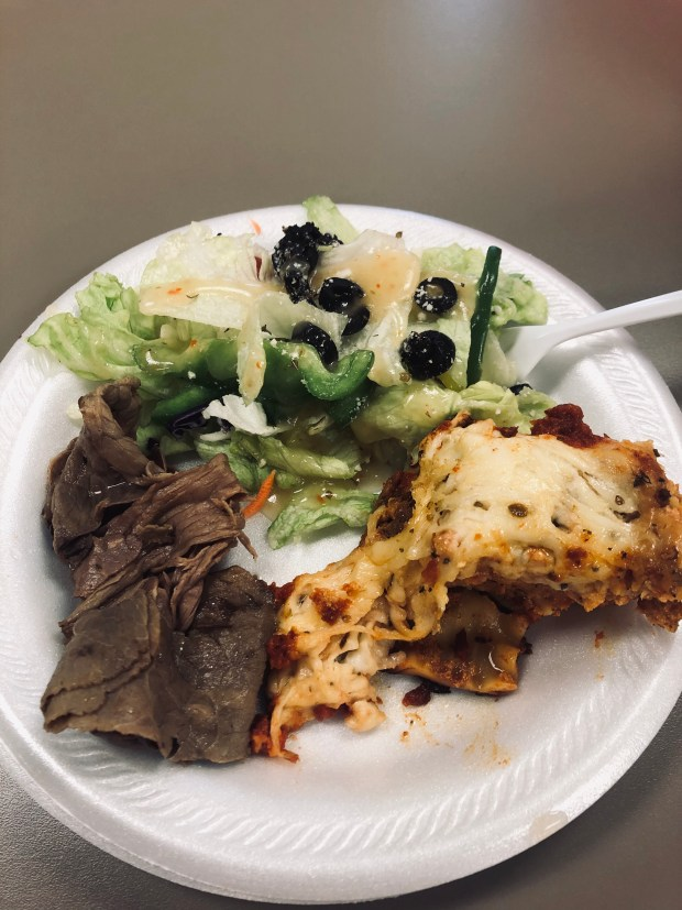 Roast beef and salad