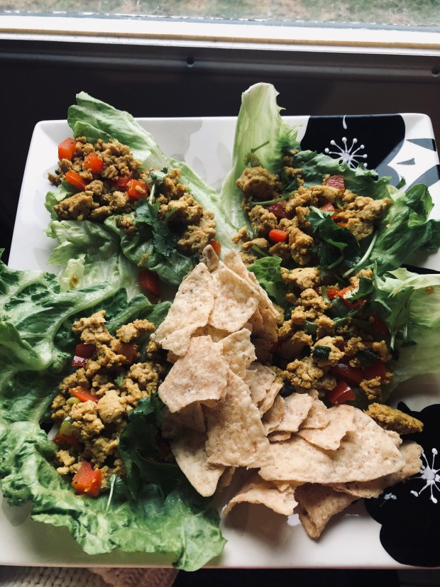 Lettuce cups and chips