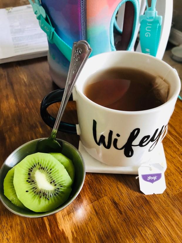 Kiwi and Kava tea before bed