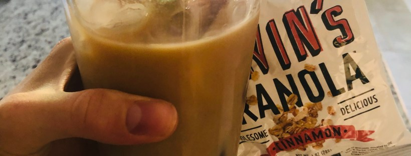 Iced coffee and granola