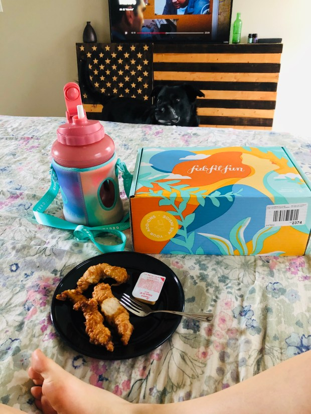 Chicken tenders, Fab Fit Fun box, and Criminal Minds