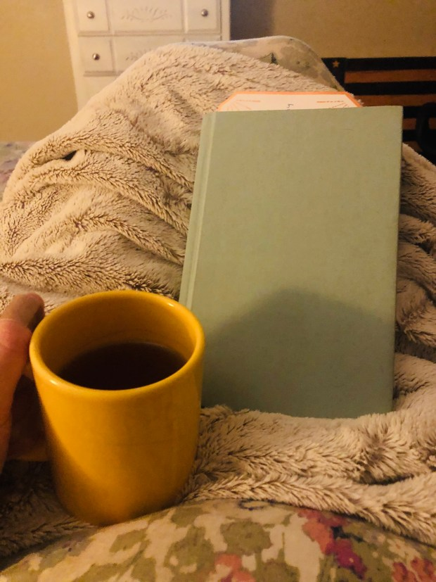 Bedtime tea and book