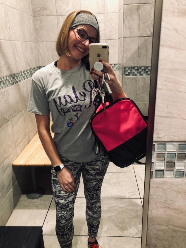 Selfie at gym