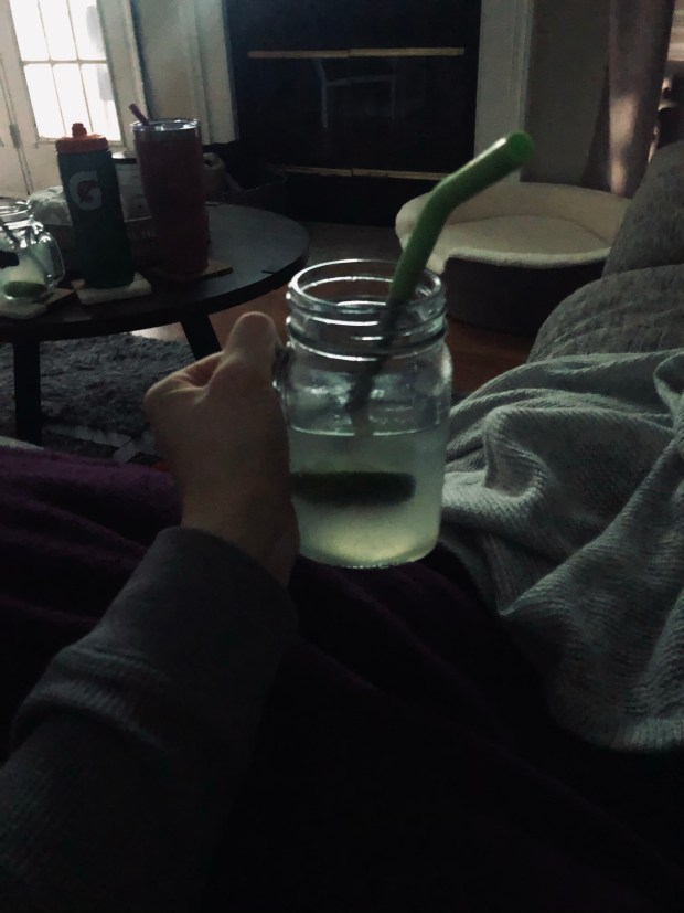Moscow mule in the evening