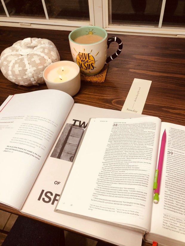 Early morning devotional and coffee