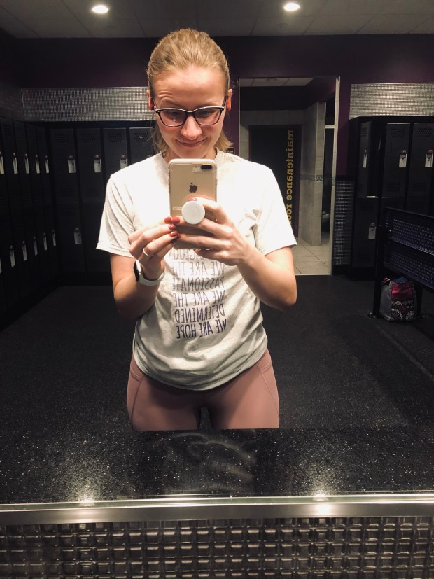 Gym selfie at Planet Fitness