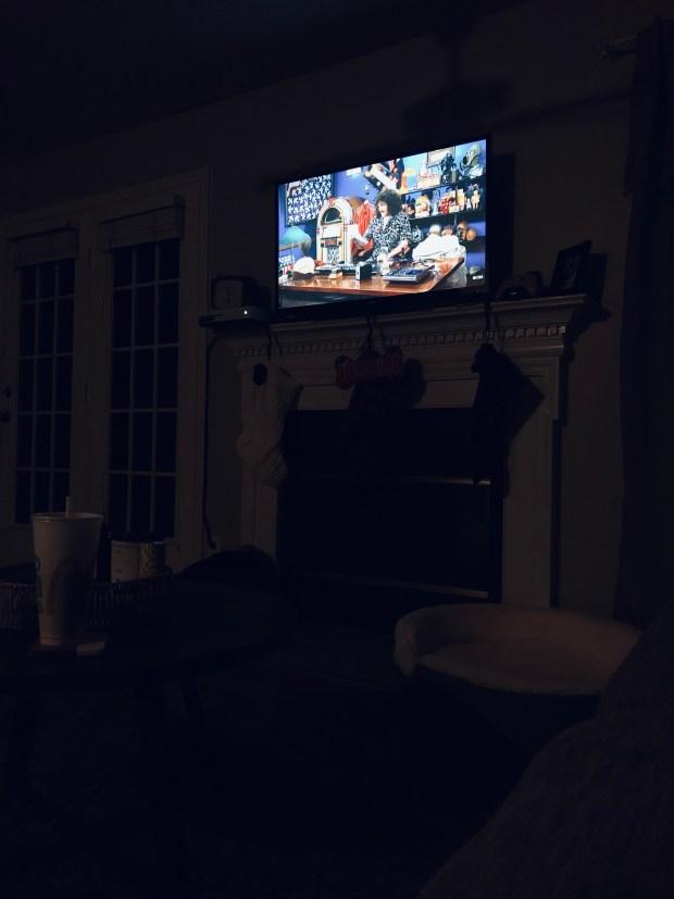 Watching TV at night