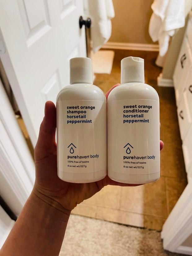 Pure Haven non toxic shampoo and conditioner
