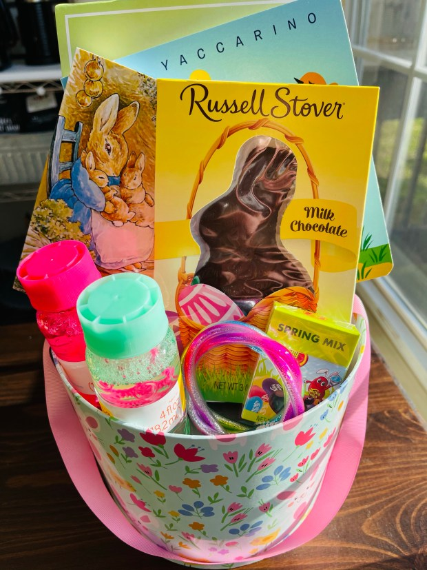 Easter basket for toddler girl