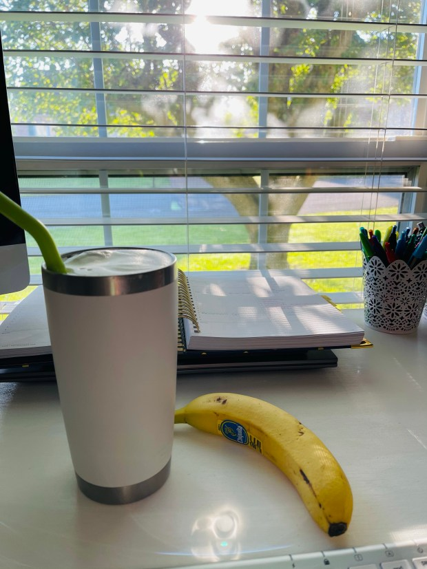 Coffee and work from home office
