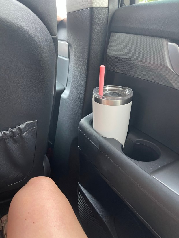 iced coffee on a road trip