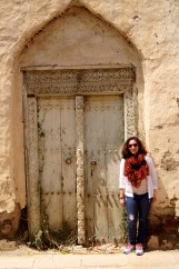 Me in front of an old door in Ibra.