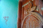 Close up of a door