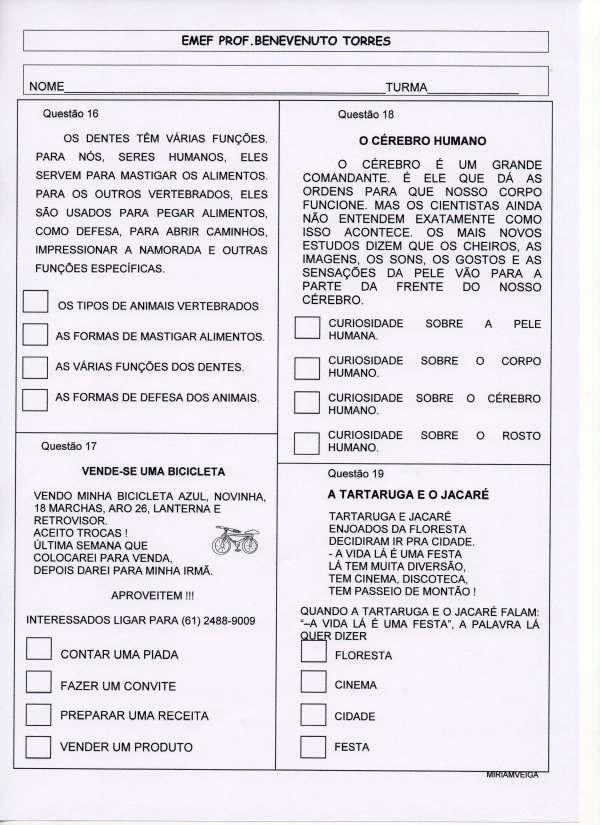 PROVINHA BRASIL - PORTUGUÊS - teste 1 - 2013 parte 4
