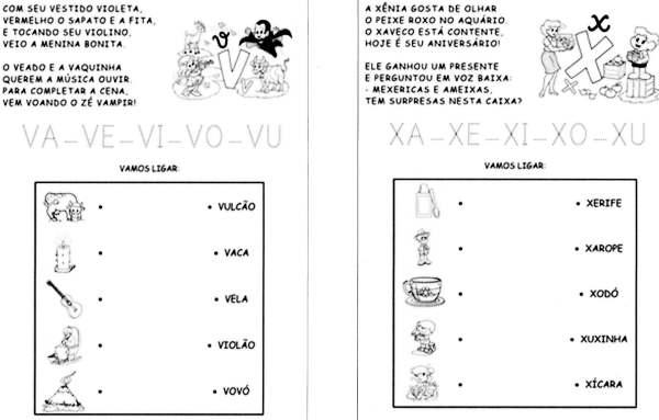 Sílabas - Turma da Mônica - V e X