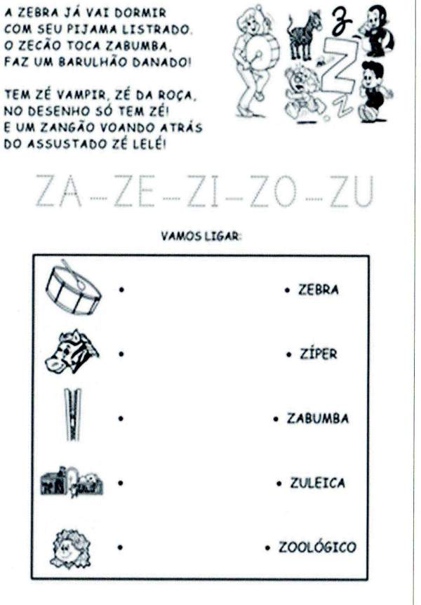 Sílabas - Turma da Mônica - Z
