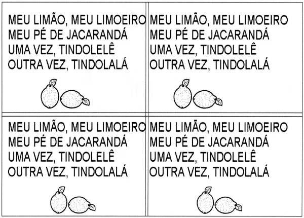 Cantiga Meu Limão meu Limoeiro - Folha 01