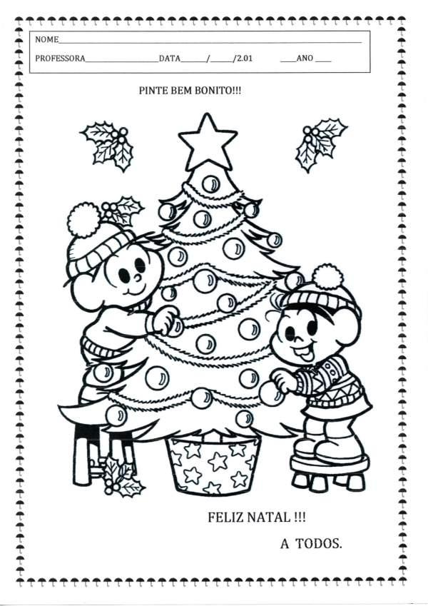 Capa Avaliação-Projeto Natal para Colorir