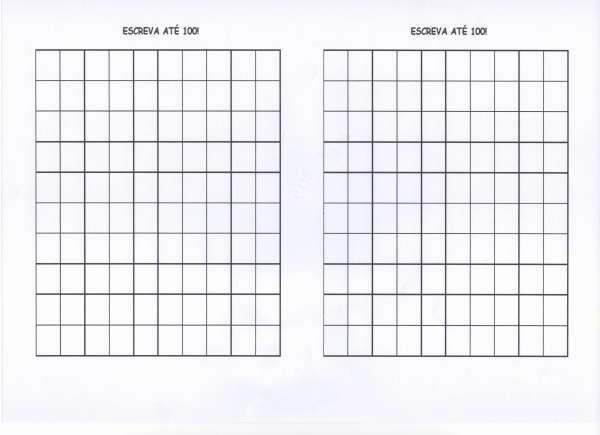Atividade com numerais-Quadro com números-Folha 2