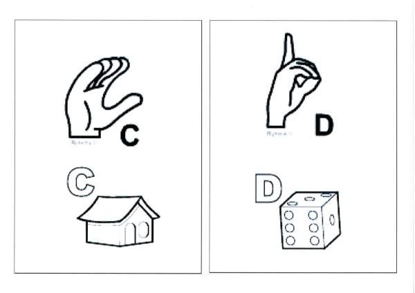 Alfabeto para sala com Libras-Parte 1-Letras C e D