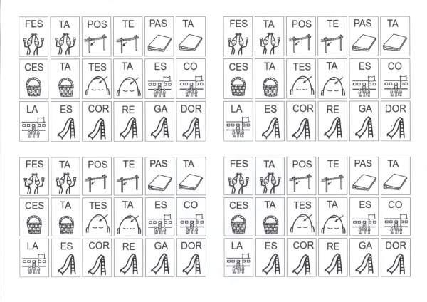 Dificuldades Ortográficas-Figuras com Sílabas-AS-ES-Folha 1