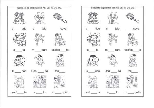 Dificuldades Ortográficas-Sílabas-AS-ES-IS-Folha 1