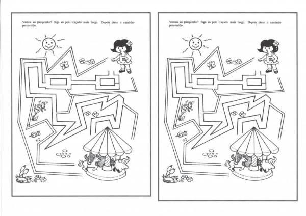 Educação Infantil-Labirinto-Largo e Estreito