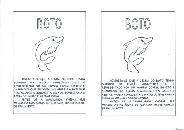 Personagens do Folclore-Boto Boitatá e Curupira-BOTO
