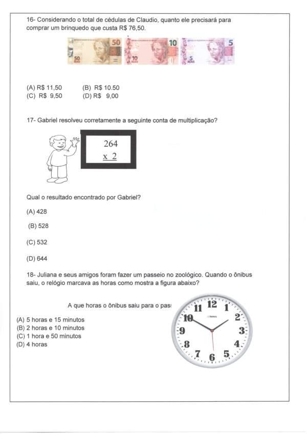 Avaliação Matemática-Sequência-Decomposição-Parte 2-Folha 4