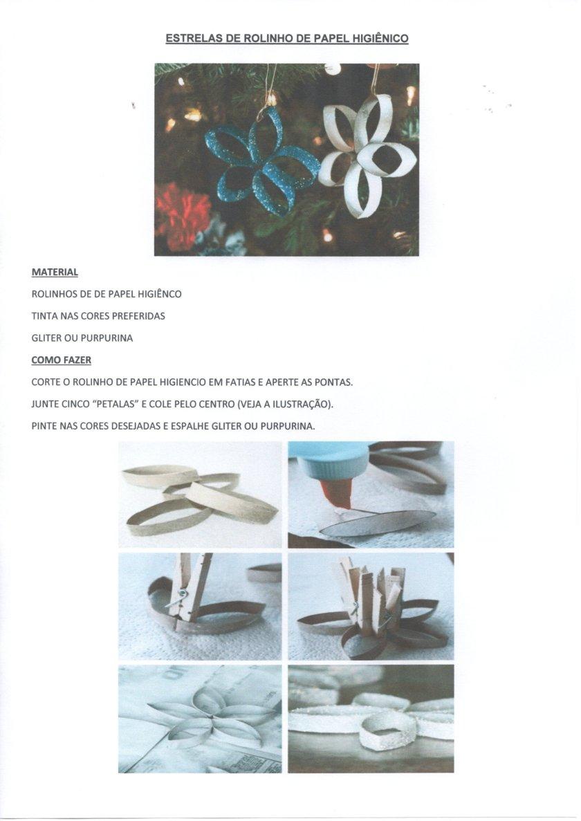 Natal-Estrelas de rolinhos de papel