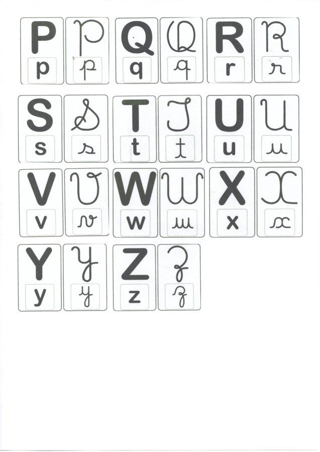 Alfabeto para caderno-4 tipos de letras-Folha 2