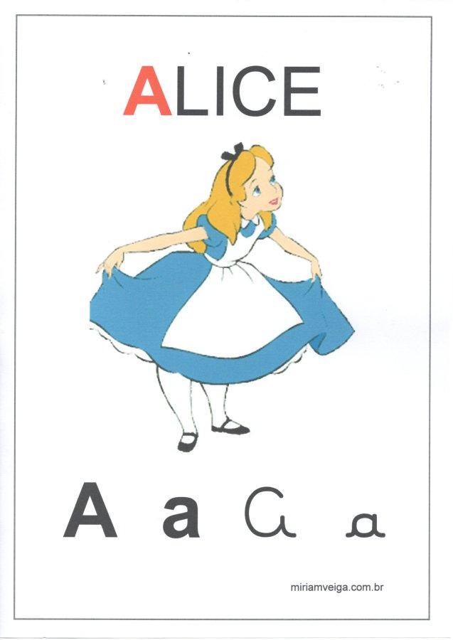 Alfabeto para parede-Filmes com ABCD-Letra A