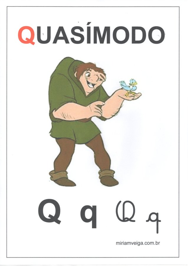Alfabeto para parede-Filmes com ABCD-Letra Q