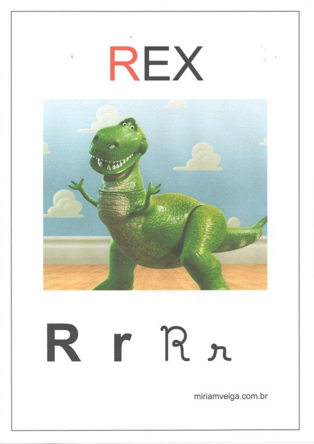 Alfabeto para parede-Filmes com ABCD-Letra R