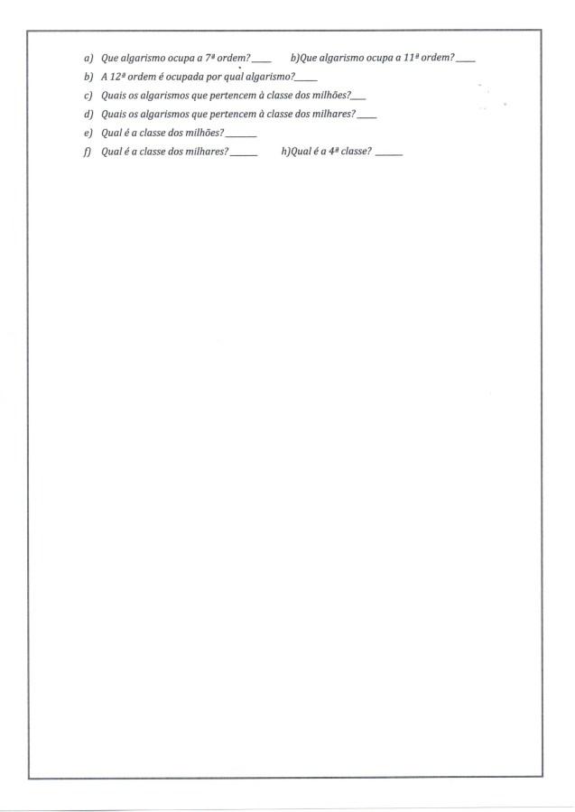 Numerais-Valor relativo e valor absoluto-Folha 2