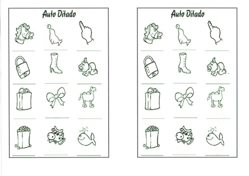 Autoditado-Escreva os nomes abaixo dos desenhos