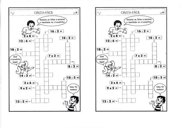 Cruzadinha-Divisão e Multiplicação