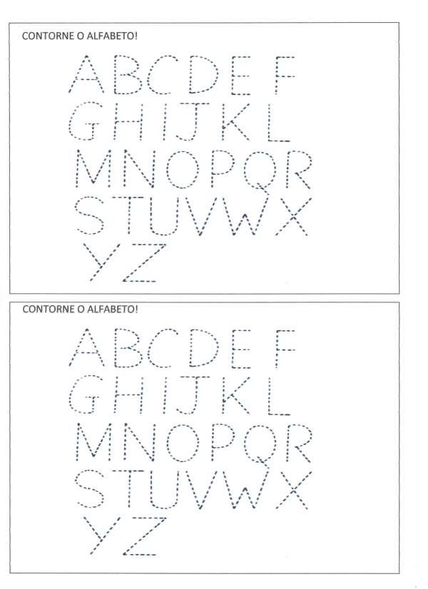 Letras pontilhadas e Contagem-Folha 1
